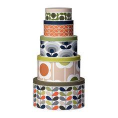 Discover the Orla Kiely Assorted Cake Tins - Set of 5 at Amara