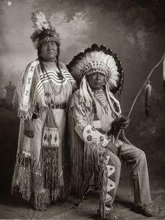 Blackfeet-Blackfoot-Indian Chief-White Wings with Wife-1925