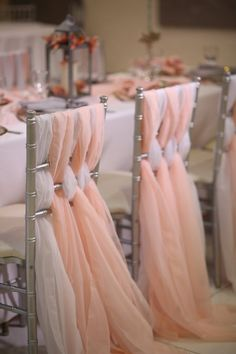 Chiffon Chiavari Chair Sash Wedding Chair Sashes by GOLinen Wedding Chair Sashes, Wedding Chair Decorations, Wedding Sash, Wedding Chairs, Gold Wedding, Wedding Table, Wedding Flowers, Wedding Photo Props, Wedding Photos