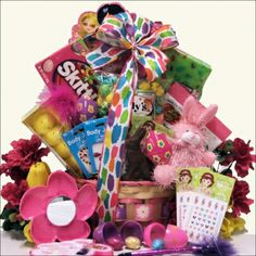 Easter Gift Basket for Girls Ages 6 to 9 Years Old, Gourmet & Artisan Foods :: Gift Boxes & Baskets :: Bullszi.com