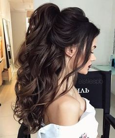 Half Up Half Down Long Wedding Hairstyles 2017 #promhair