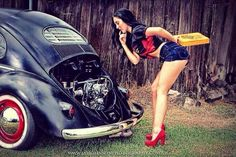 VW Beetle and pin up girl - perfect combination !