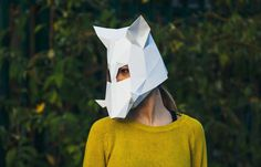 Paper Boar Mask Papercraft Template Halloween Mask by Paperpetshop