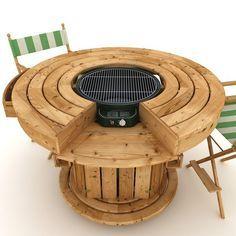 DIY outdoor round table