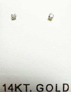 Your entire order ships free anywhere in the usa....14 karat gold 2mm cubic zirconia basket set push back earrings with 5mm backs gift box - visit my e-bay store for additional quantity sizes and selection - 14 karat gold 2mm cubic zirconia basket set w/5mm push back earrings gift box - visit my e-bay store for additional quantity sizes and selection -