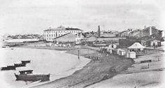 A Coruña. Praia de Riazor en 1902