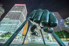 Fist of Joe Louis in Detroit. A frame from my documentary.