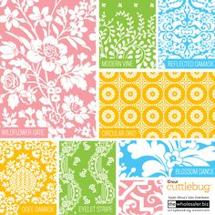 Introducing new Cricut Cuttlebug™ Embossing Folders, featuring artwork by Anna Griffin®! From rich floral patterns to geometric designs, the folders will add Anna Griffin® style to all your projects.