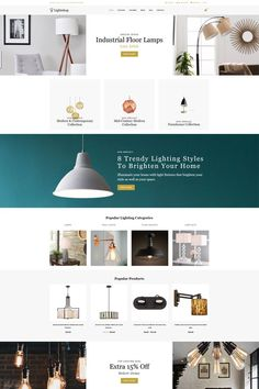 Lightshop Decor Modern Shopify Theme - Shopify Website Builder - Build the Shopify Ecommerce site within 30 minutes. Fashion Website Design, Interior Design Website, Interior Design Courses, Home Interior Design, Decoration Inspiration, Web Design Inspiration, Web Layout, Layout Design, Modern Website