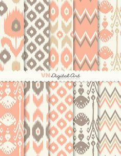 Digital Paper Ikat Digital Scrapbook Paper Pack by VNdigitalart  https://www.etsy.com/listing/101906217/digital-paper-ikat-digital-scrapbook?ref=shop_home_active_2