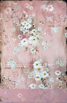 "Paintings – Kathe Fraga – Fine Art - ""XOXOXO"" mixed media on frescoed panel X French Wallpaper, Office Paint, Gold Ink, Decorative Panels, Chinoiserie, Asian Art, French Vintage, Painting Inspiration, Hand Painted"