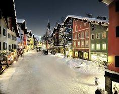 Kitzbuhel, Austria Perfect Ski Village on the Alps!