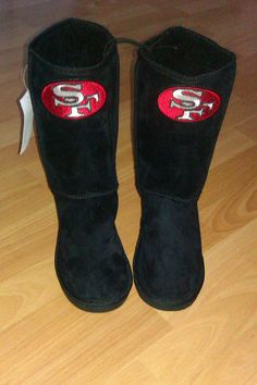 OMG! I have to have these!!!San Francisco 49ers Womens/ Ladies boots by UniqueSportswear, $49.00