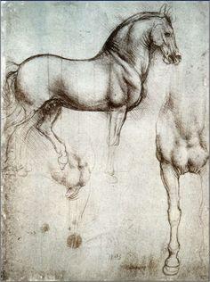 Da Vinci's unfinished horse sketches