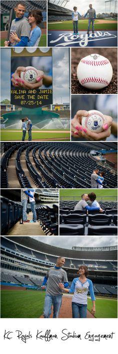 Engagement Inspiration | Kansas City Royals Kauffman Stadium Engagement Session | Baseball Engagement Session | Joe R Geske Photography | Kansas Wedding & Engagement Photographer