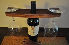 Recycled Wine Barrel Wine Glass Holder Chili Pepper Woodworks
