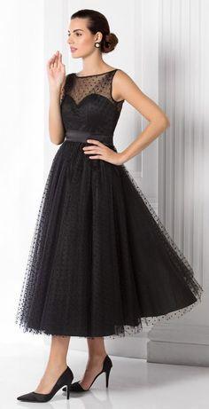 Swiss dot tea length dress