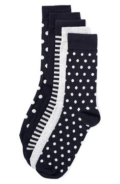 Topman Dot and Stripe Pattern Socks (5-Pack) available at #Nordstrom