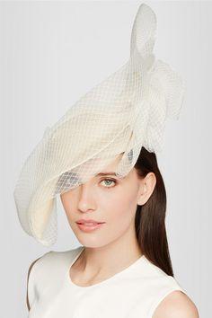 Philip Treacy | Veiled sinamay straw headpiece | NET-A-PORTER.COM
