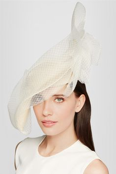 Philip Treacy | Veiled sinamay straw headpiece | NET-A-PORTER.COM