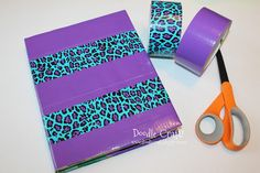 How to Cover a Textbook with Duct Tape!  Using patterned duct tape makes it awesome and easy to tell apart!  :)  #ducktape
