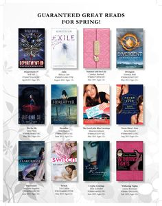 These great teen reads for spring 2011 in this ad are sure to bring you out of your winter funk.