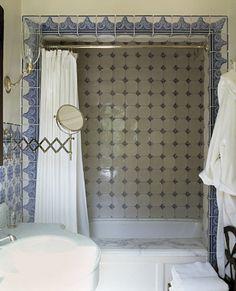 Ferguson & Shamamian Architects- Montecito, CA. Bad Inspiration, Bathroom Inspiration, Interior Inspiration, Bathroom Ideas, Spanish Style Homes, Spanish House, White Bathroom, Bathroom Interior, Estilo Colonial