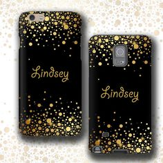 Personalized iPhone 6s case Samsung Galaxy Note 5 iPhone 6s plus iPhone 5 Galaxy S5 Golden Rain black gold phone case Galaxy S6 Edge Plus