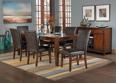 Casual Dining Room Furniture-The Kona Collection-Kona Table Dining Room Blue, Dining Set, Dining Table, Earth Design, Dining Room Furniture, Sweet Home, New Homes, Living Room, Interior