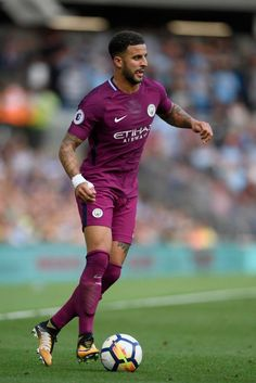Kyle Walker in his first league game for City.