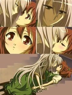 Find images and videos about nagisa & shizuma on We Heart It - the app to get lost in what you love. Yuri Anime, Manga Anime, Strawberry Panic, Anime Mouth Drawing, Me Me Me Anime, Anime Guys, Manhwa, Cute Lesbian Couples, Manga Comics
