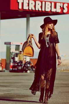 Erin-Wasson-Boho-Dress-Style #boho #fashion #bohemian pinterest.com/zoesvintage/boho/