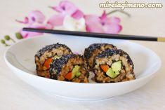 Sushi Teriyaki http://www.mireiagimeno.com/recetas/sushi-teriyaki