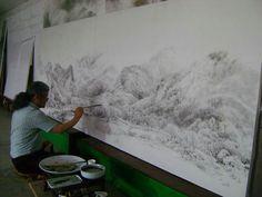 송관엽 작가의 작업실 풍경