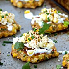 These wholesome, nutritious Mexican Street Corn Fritters are the perfect snack any time of the day!