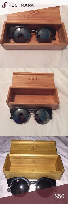 "Vintage style ""Wuudz"" Sunglasses Brand new ebony sunglasses with complimentary wooden case. Never before used Accessories Glasses"