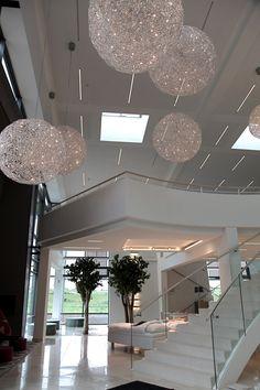 Eksklusiv belysning til Beirholms Væverier´s moderne domicil - BJARNHOFF A/S
