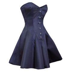 ◦Authentic Steel Boned Royal Blue Satin Overbust Long Corset Dress ◦8 Spiral Steel Bone, 4 Flat Steel Bone ◦Front Length: 24 inch (62 cm) ◦Side Length: 24.5 inch (62.25 cm) ◦Back Length: 26 inch (66 c