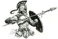 Pictures of spartan warrior tattoo drawing - Tattoo Sketches, Tattoo Drawings, Body Art Tattoos, Art Sketches, Gladiator Tattoo, Guerrero Tattoo, Spartan Tattoo, Greek Mythology Tattoos, Warrior Tattoos