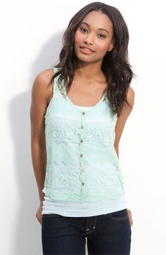 chloe k sheer lace tank