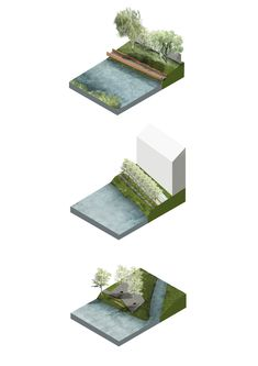 Landscape Diagram, Landscape And Urbanism, Landscape Concept, Landscape Architecture Design, Architecture Presentation Board, Architecture Collage, Social Housing Architecture, Ecology Design, Urban Planning