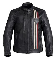 Triumph Scrambler Custom, Triumph Cafe Racer, Cafe Racers, Balmain Leather Jacket, Vintage Leather Jacket, Leather Men, Triumph Motorcycle Clothing, Motorcycle Outfit, Motorcycle Jackets