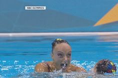 That is one excited Olympic swimmer!