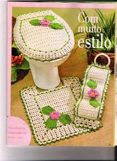 1000 images about toilet cover crochet on pinterest for Accesorios para cortinas de bano