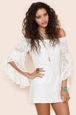 Bardot Crochet Dress