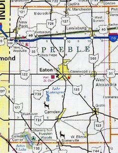 Map of Preble County Ohio | Map of the Preble County, Ohio