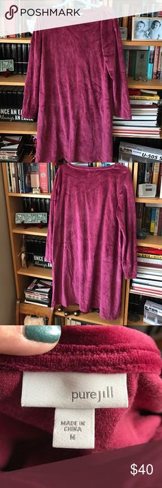 Velvety Burgundy Dress Comfy Pure Jill dress. Classic JJill style and quality. Perfect with leggings ❤ J. Jill Dresses