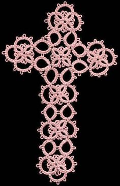 TATtle TALES Tatting Patterns: Tatting Bookmark TATBiT's Shoestring Cross Pattern Video Chat