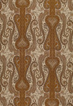 Fabric | Chavant Paisley in Caramel | Schumacher
