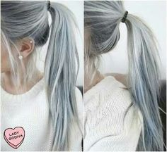 Cabelo cinza azulado ♡